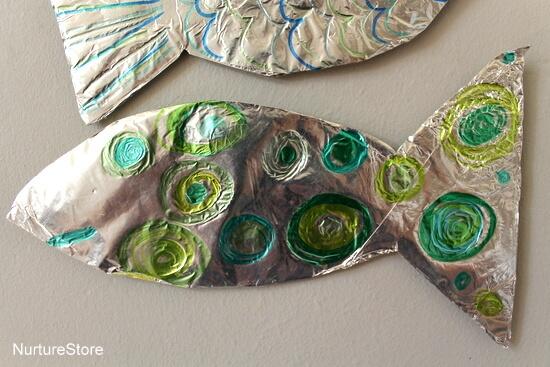 10 ideias criativas com papel alumínio - peixes