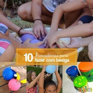 10 maneiras de brincar com bexiga