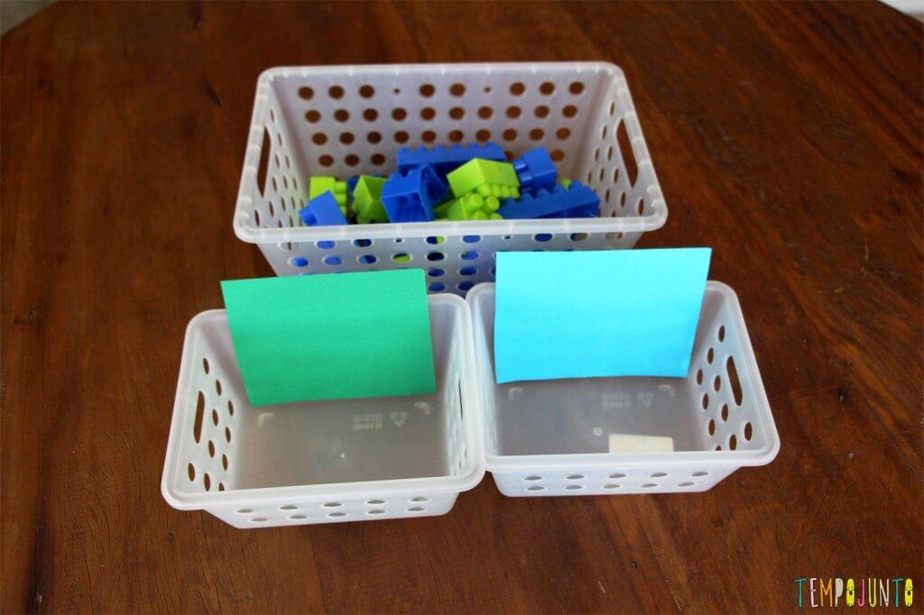Brincadeiras para ensinar as cores - materiais
