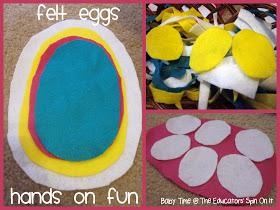 20 ideias para se divertir na Páscoa - ovos de feltro