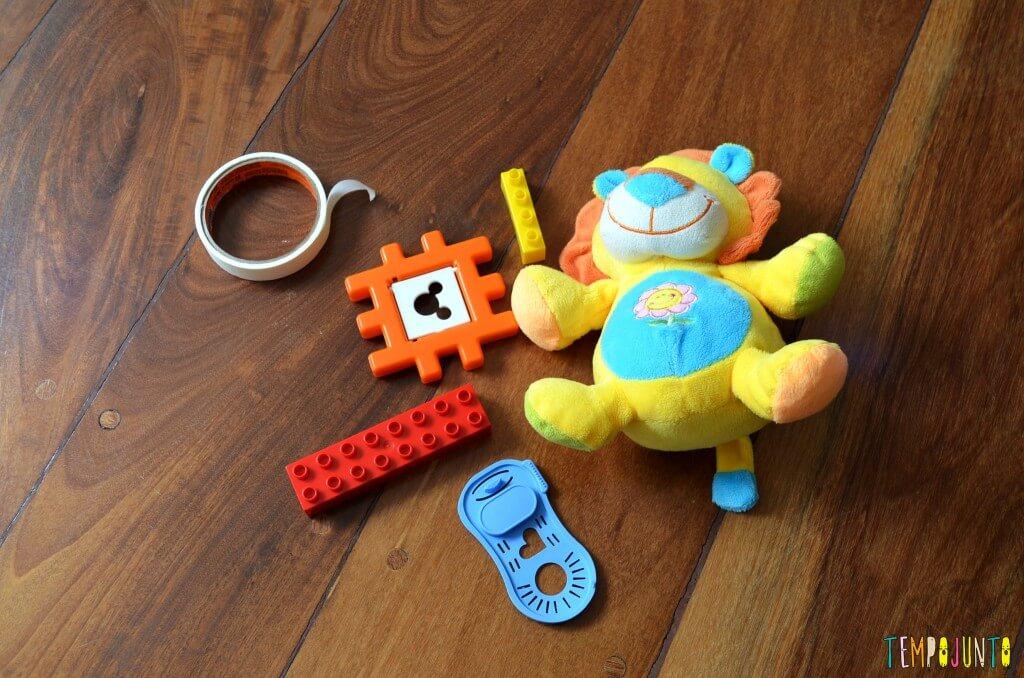 Brincadeira 3 em 1 para bebês sentar engatinhar e pegar - brinquedos