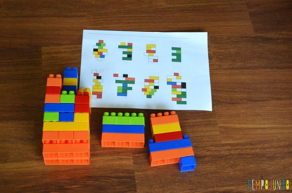 Brincadeiras para o momento do descanso no lugar da soneca - kit lego com figuras para copiar