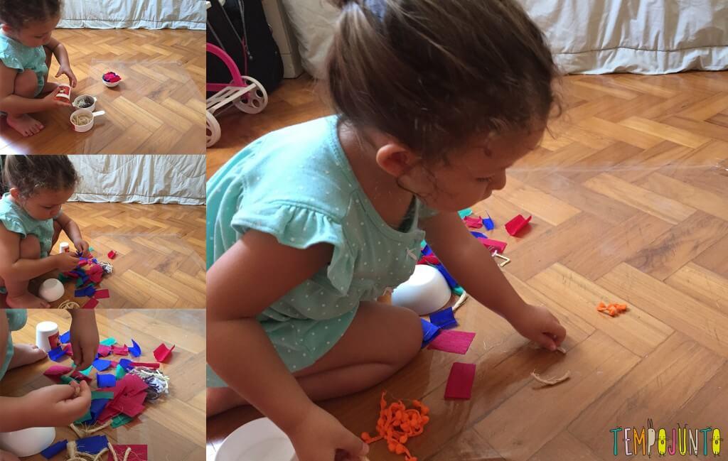 melhores atividades de artes para crianças de 2 a 3 anos papel contact