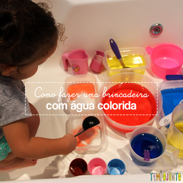 Uma atividade com água colorida que vai fazer a alegria dos pequenos