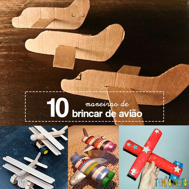 10 maneiras de brincar de avião capa