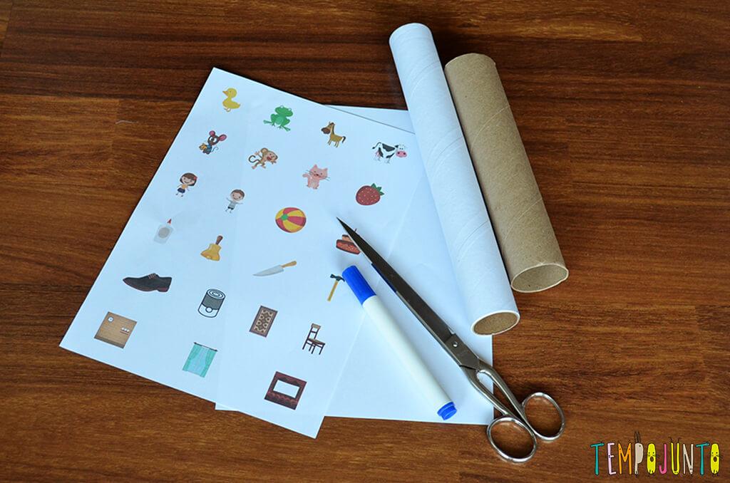Brinquedo que ajuda a formar e ler as primeiras palavras - materiais