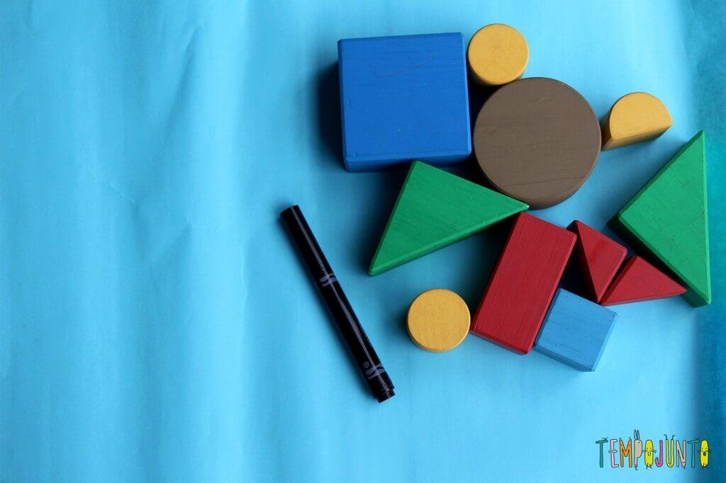 Como fazer um jogo de encaixe para as crianças - materiais