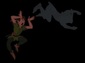 Desenho da sombra para conhecer o próprio corpo e brincar de Peter Pan - sombra Peter pan