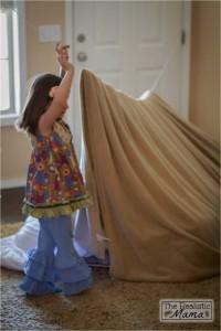 10 maneiras de fazer uma cabana em casa- cabana com corda