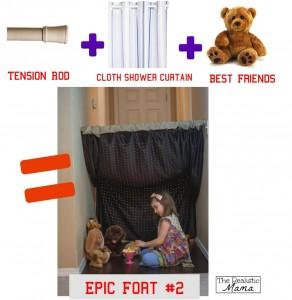 10 maneiras de fazer uma cabana em casa - cabana de cortina