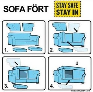 10 maneiras de fazer uma cabana em casa - cabana de sofá