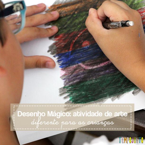 Desenho mágico: um jeito diferente de fazer arte