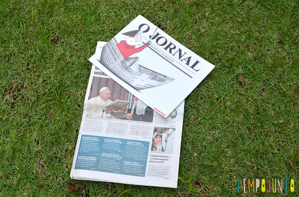 Um barquinho e uma viagem incrível pela imaginação - jornal com o livro