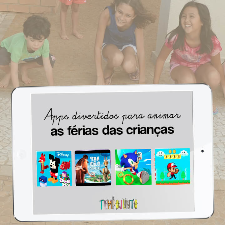 4 apps para divertir as férias das crianças.