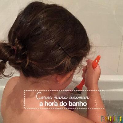 Cores para animar a brincadeira na hora do banho