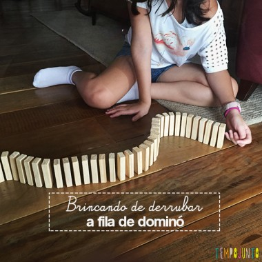 Qual foi a última fila de dominó que você fez para derrubar?
