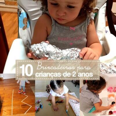 10 brincadeiras para crianças de 2 anos
