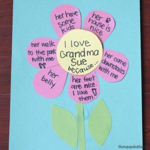 10 ideias de como fazer um presente para os avós - quadro de flor