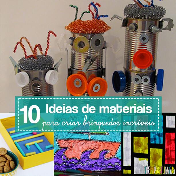 10 materiais simples para fazer brincadeiras incríveis para as crianças