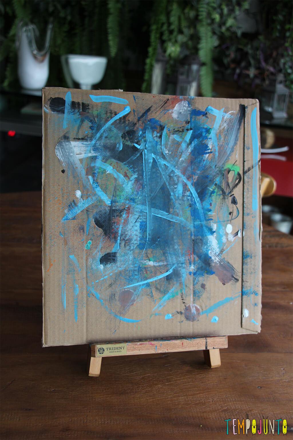Atividade de artes para crianças de todas as idades - quadro pronto