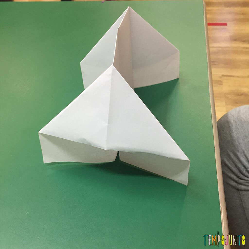 Brincadeira de origami - casinha montada