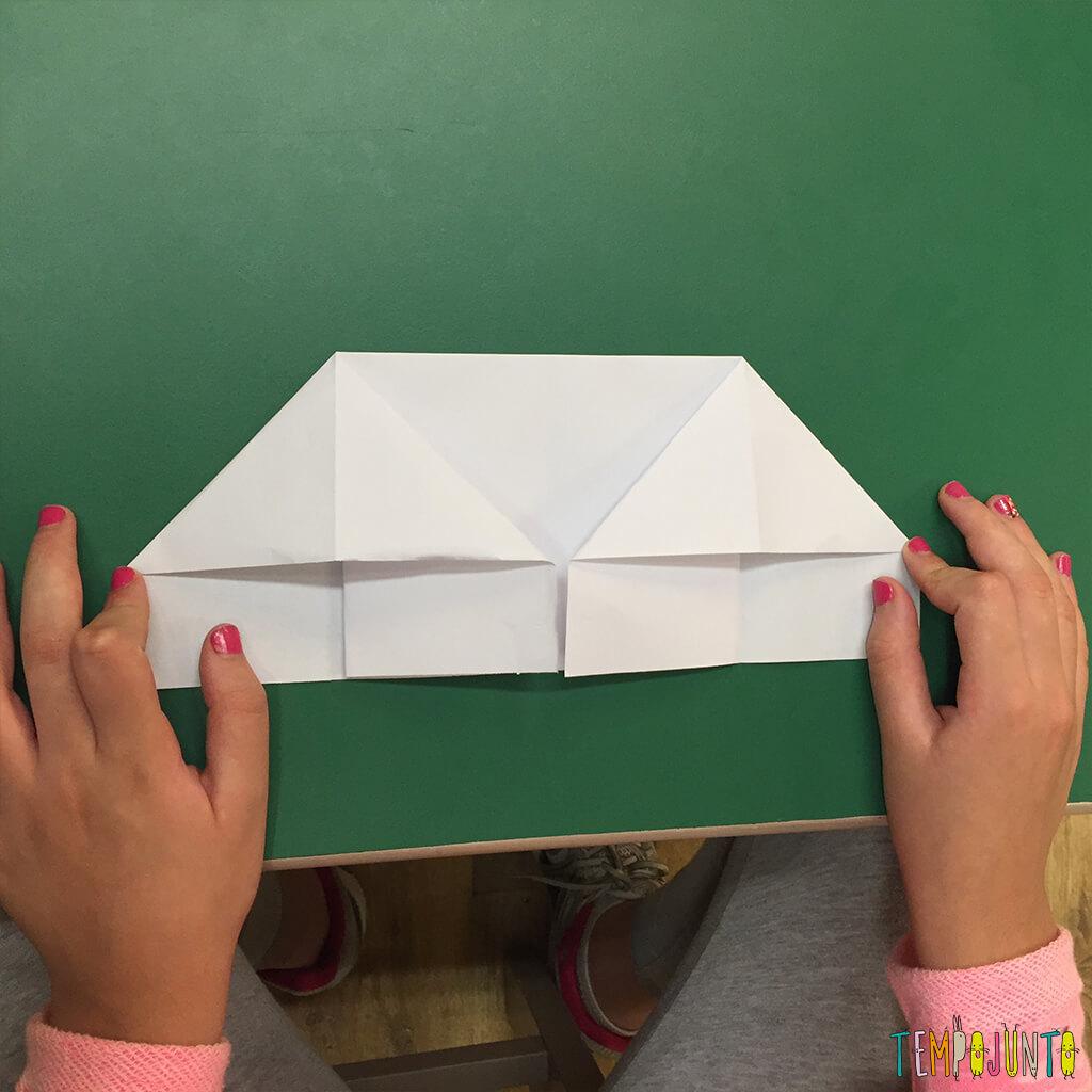 Brincadeira de origami - oitava dobra