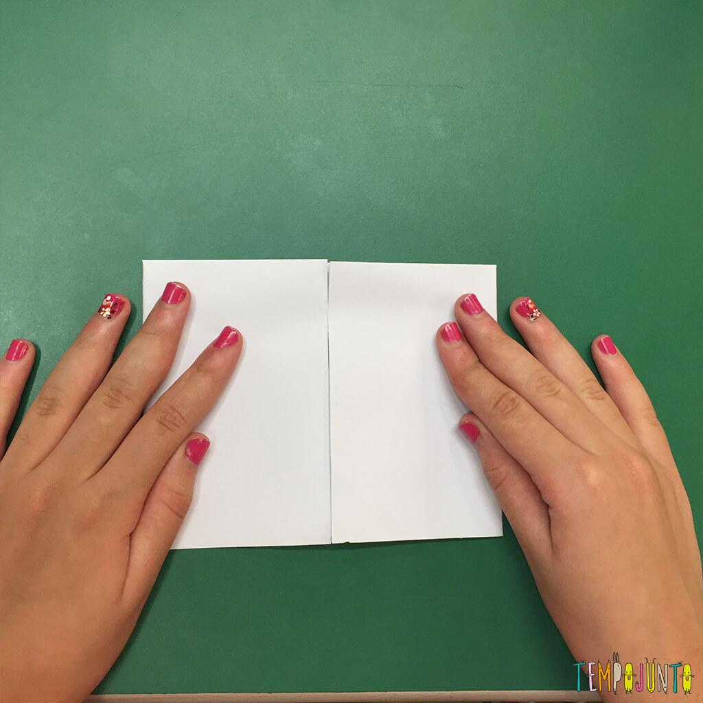 Brincadeira de origami - quinta dobra
