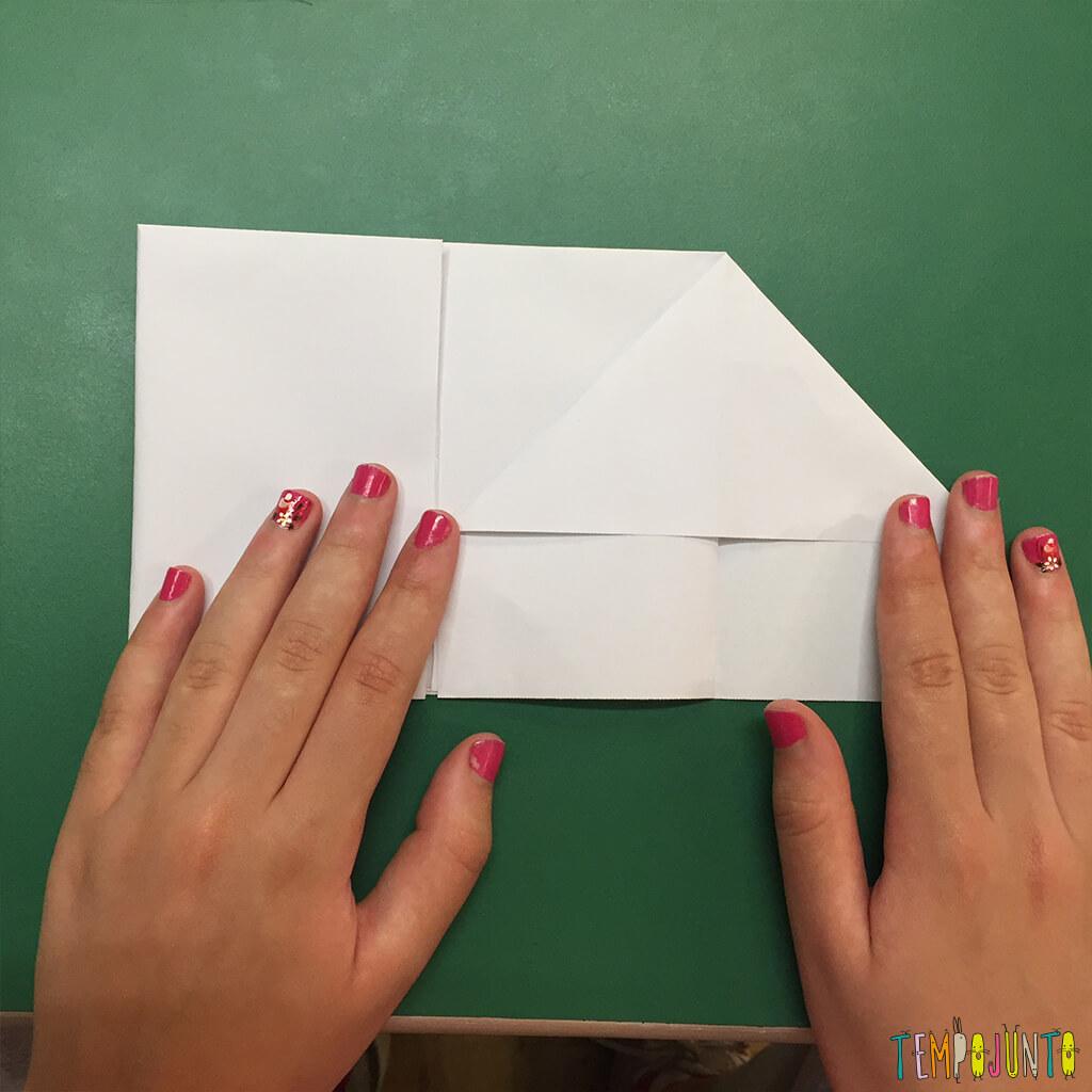 Brincadeira de origami - setima dobra