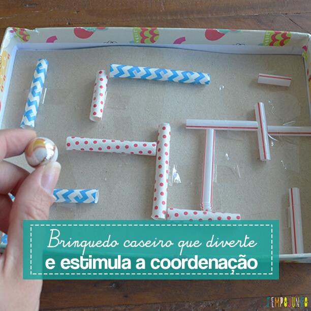 O labirinto caseiro que ajuda na coordenação e é muito divertido
