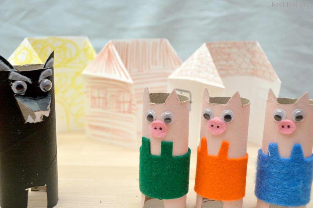 Mais 10 ideias de brinquedos com rolo de papel higiênico - tres porquinhos