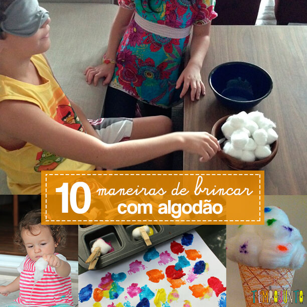 10 maneiras de brincar com algodão - capa