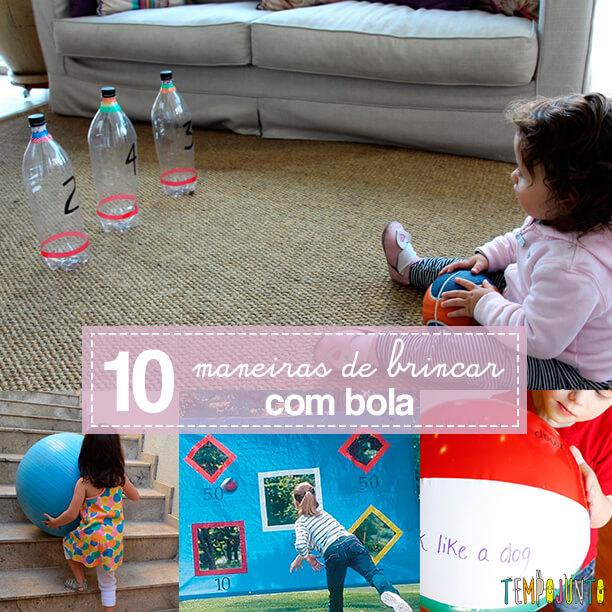 10 maneiras de brincar com bola - capa