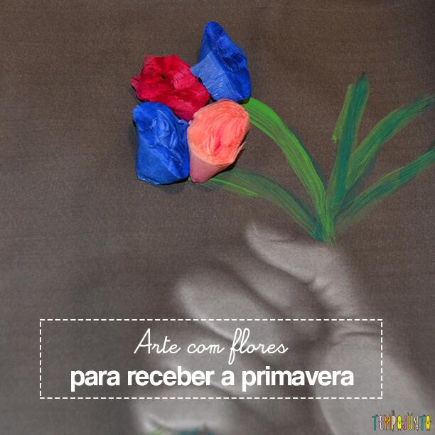 Arte com flores para receber a primavera