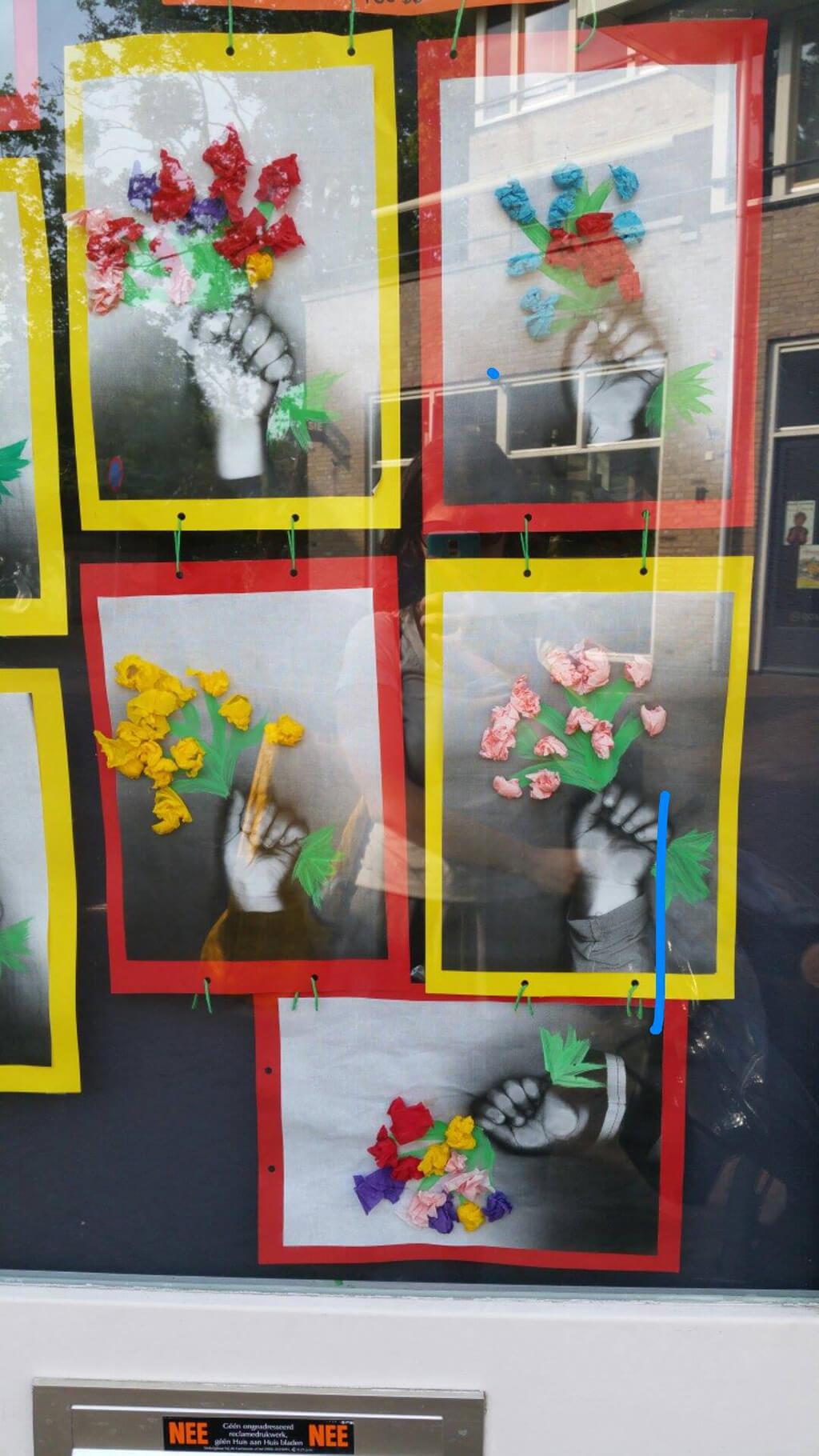 Arte com flores - foto original