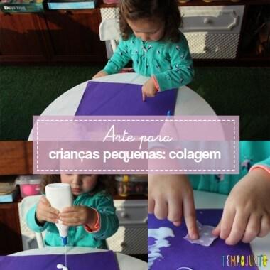Arte para crianças pequenas: colagem