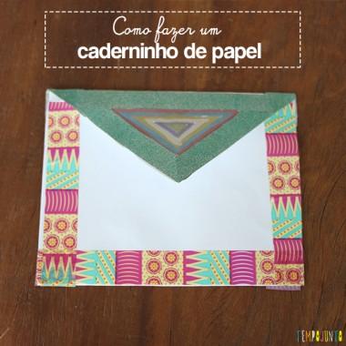 Como transformar uma folha de papel num caderninho