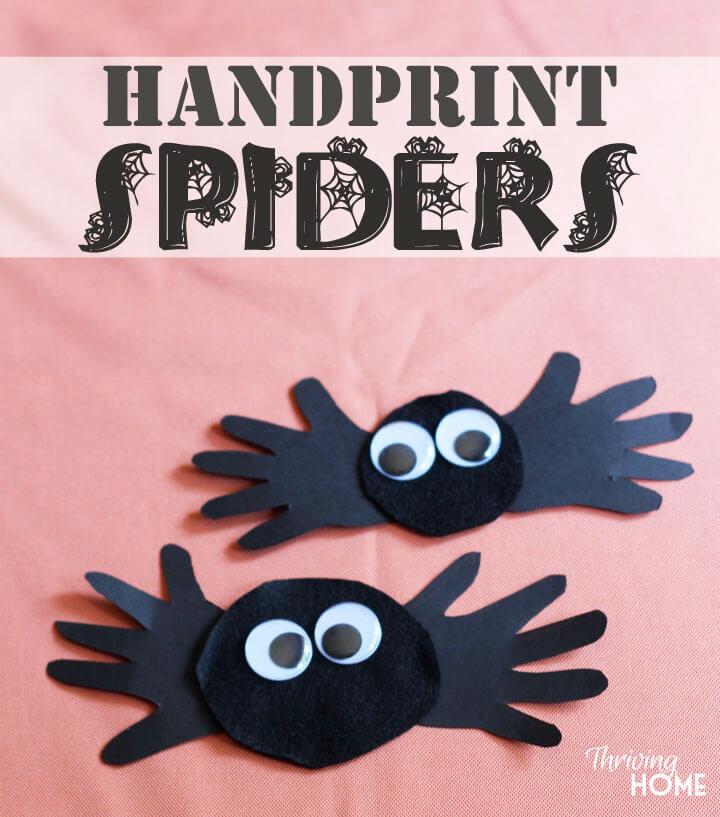 10 ideias para o halloween das criancas - aranha de maos