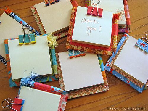 10 sugestões de presentes caseiros para o Dia dos Professores - bloco de notas