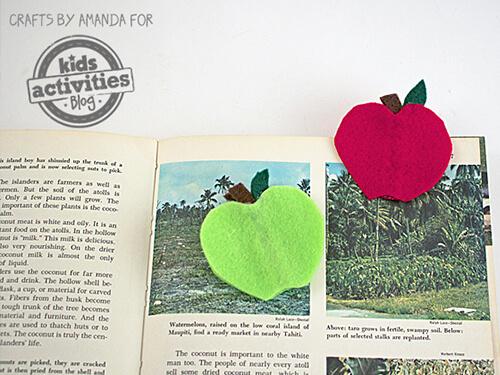 10 sugestões de presentes caseiros para o Dia dos Professores - marcador de livro de maça