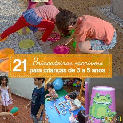 Você vai amar estar 25 brincadeiras para crianças entre 3 e 5 anos