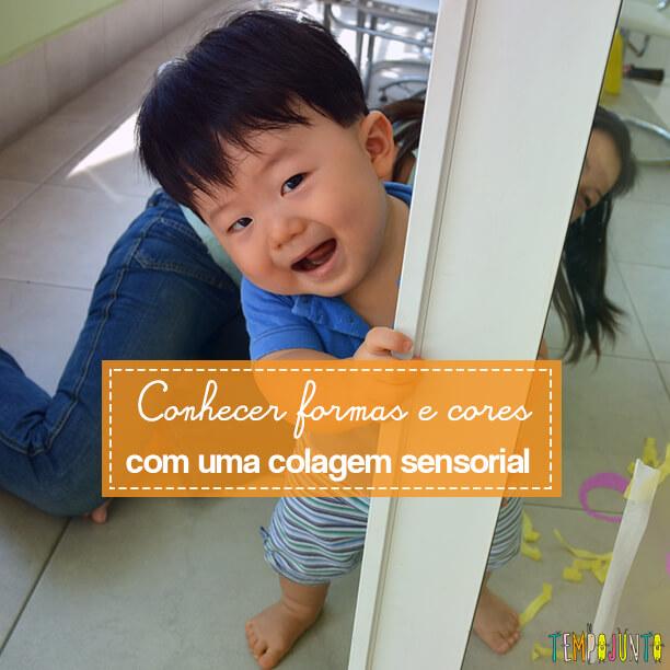 Brincadeira sensorial para seu bebê com papel de seda