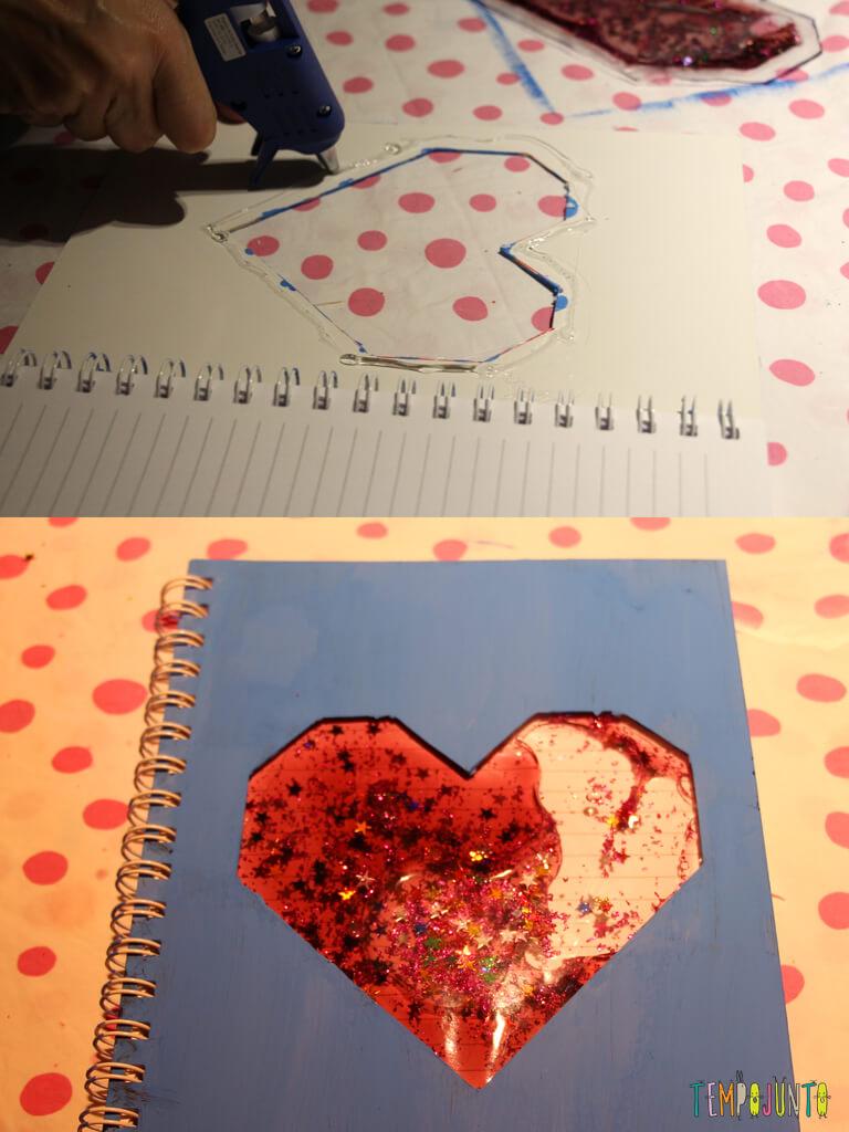 Como customizar um caderno com as criancas_7163_7168_colagem do coracao pronto