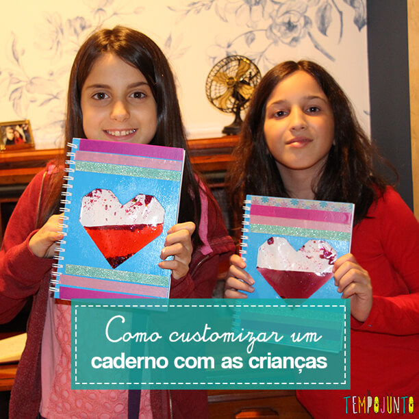 Como customizar um caderno com as crianças