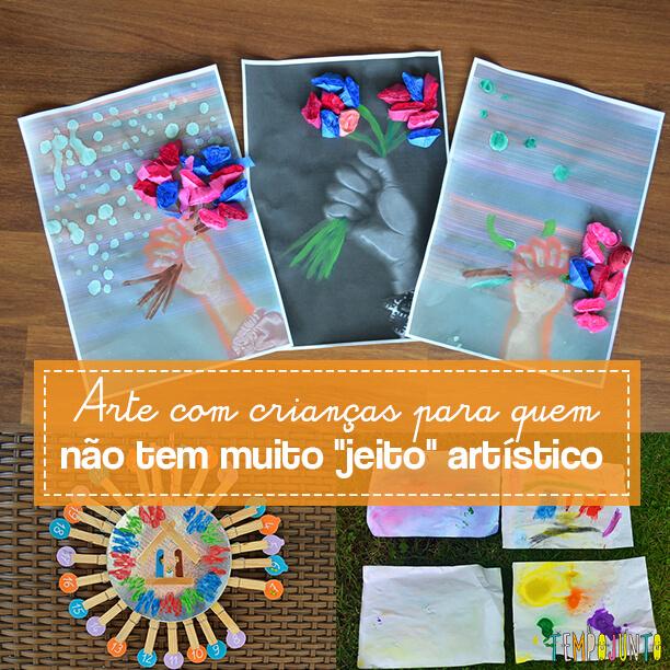 Brincadeiras simples que desenvolvem o lado artístico das crianças
