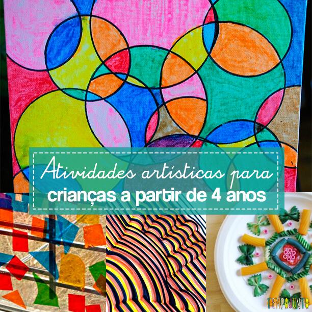 Atividades artisticas para educação infantil