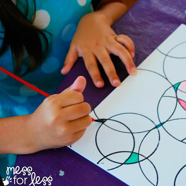 10 ideias de artes para fazer com crianças - circulos e aquarela
