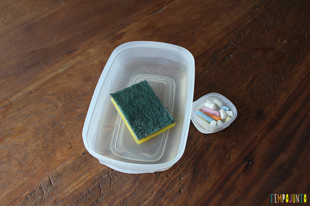 Acerte o alvo com esponja molhada - materiais