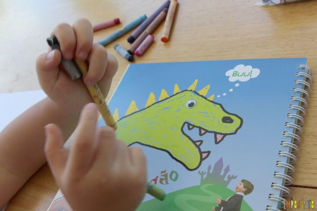 Como fazer desenho com as mãos - caderno