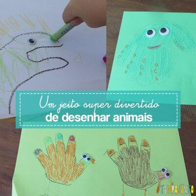 Como fazer desenho com as mãos