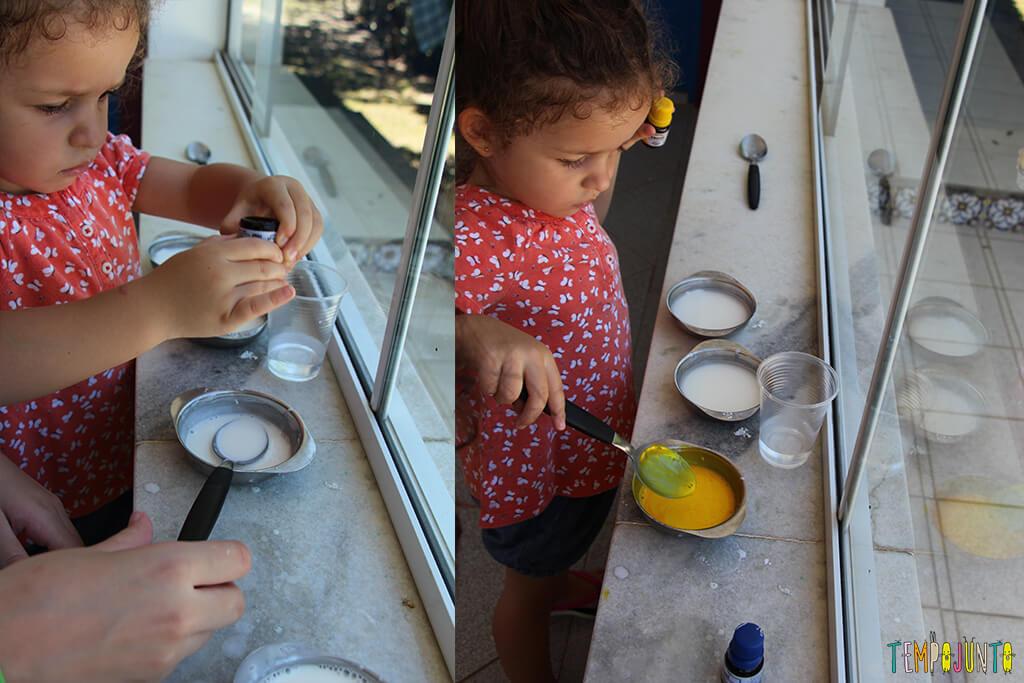 Receita de tinta caseira para pintar vidro - gabi montando tinta